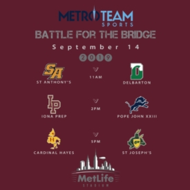 """Battle for the Bridge"" Pits New York vs. New Jersey Teams in a Showcase of Catholic High School Football"